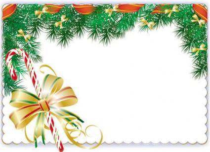 free vector Christmas elements border 01 vector