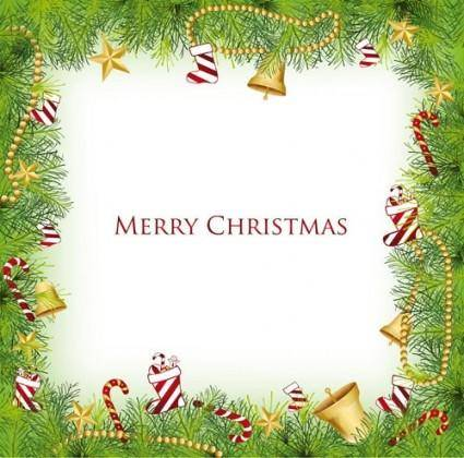 Christmas elements border 04 vector