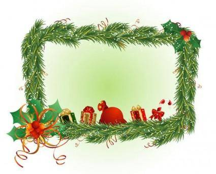 free vector Christmas element border 02 vector