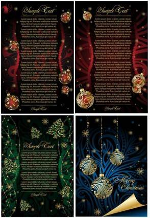 Beautiful christmas posters vector