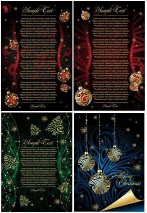 Beautiful christmas posters vector