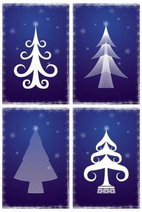 free vector Line christmas tree vector