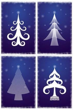 Line christmas tree vector