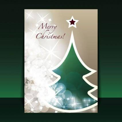 free vector Beautiful christmas leaflets 03 vector