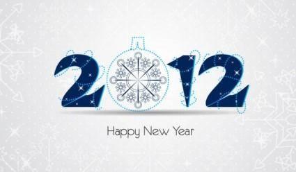 2012 christmas font 02 vector