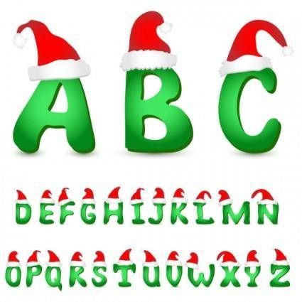 free vector Lovely christmas letter 03 vector