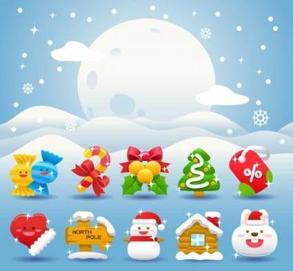 Christmas holiday 03 vector