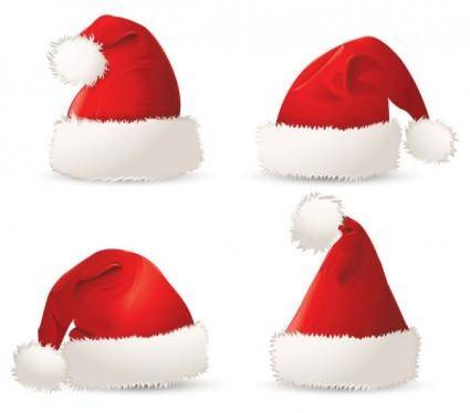 Christmas hats 01 vector
