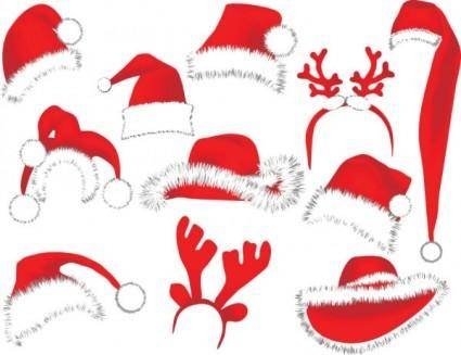 free vector Christmas hats 03 vector