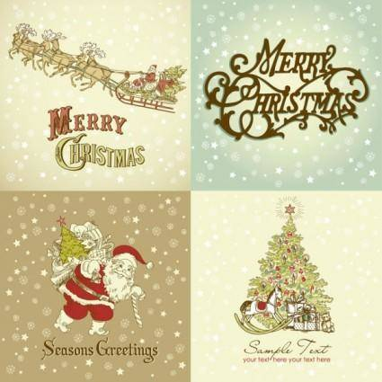 free vector Gorgeous christmas designs vector