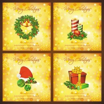 free vector Beautiful christmas elements 05 vector