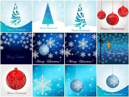 Christmas element 01 vector