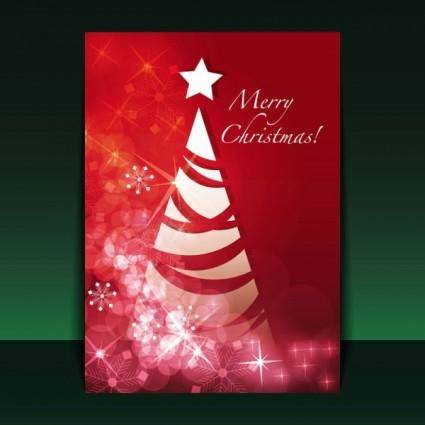 Beautiful christmas flyer 01 vector
