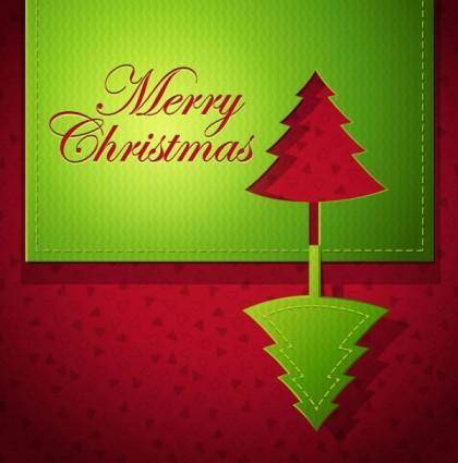 Creative christmas cards 01 vector