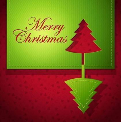 free vector Creative christmas cards 01 vector