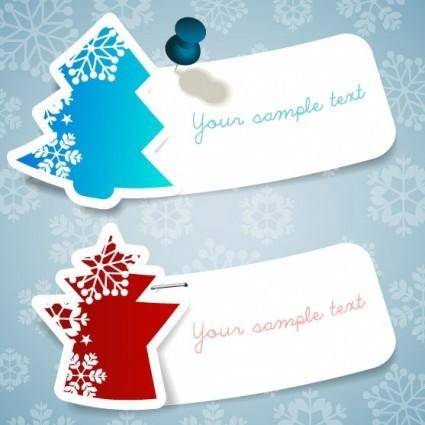 free vector Christmas snowflake stickers vector