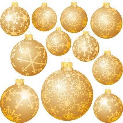free vector Snowflake ball christmas decorations vector