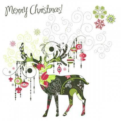 free vector Beautiful christmas designs 01 vector