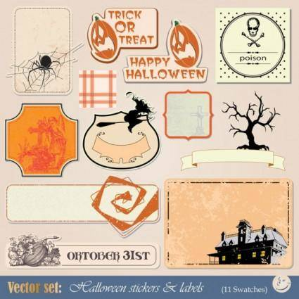 Halloween tag 01 vector