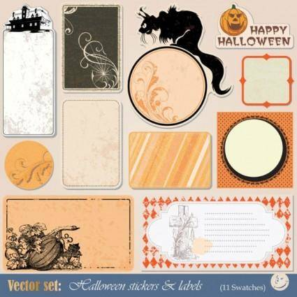 free vector Halloween label 02 vector