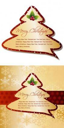 Christmas tree tags vector