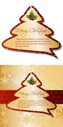 Christmas tree tags vector
