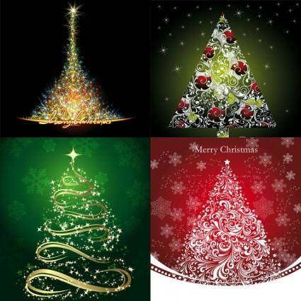 free vector Starstudded christmas tree vector