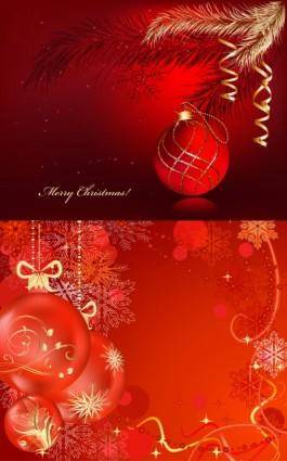 free vector Festive christmas ball vector