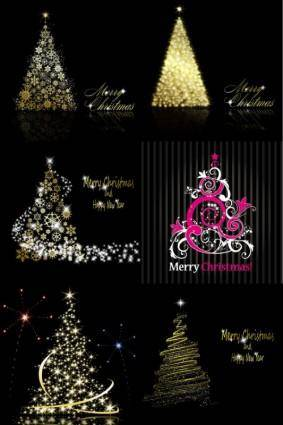 Bright stars christmas tree vector