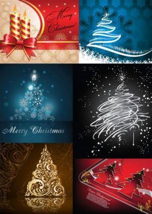All kinds of christmas tree vector