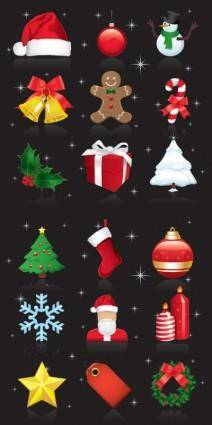 free vector Beautiful christmas ornaments vector