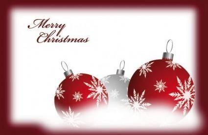 free vector Beautiful christmas ball 05 vector