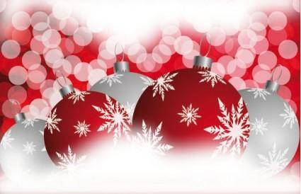 free vector Beautiful christmas ball 06 vector