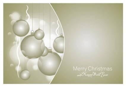 free vector Beautiful christmas ball 09 vector