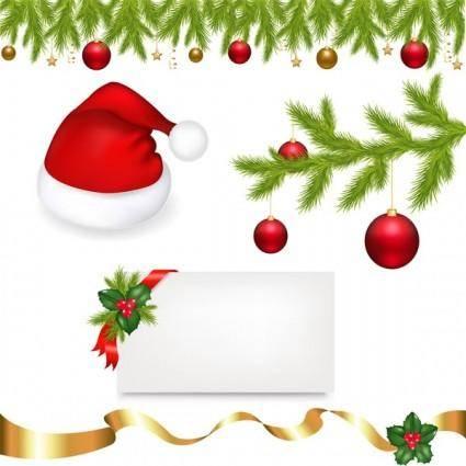 free vector Christmas ornaments vector
