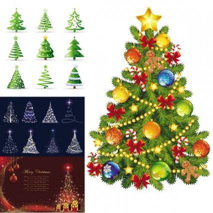 free vector Beautiful christmas tree vector