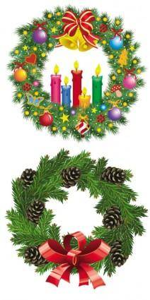 free vector Christmas wreath 1 vector
