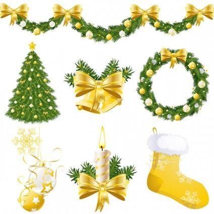 free vector Christmas ornament vector