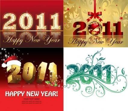 free vector 2011 christmas font design vector