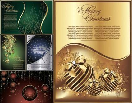 free vector Exquisite christmas cards vector