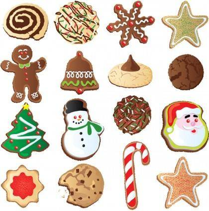 free vector Christmas ornaments biscuits vector