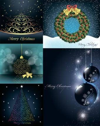 Christmas decorative elements vector