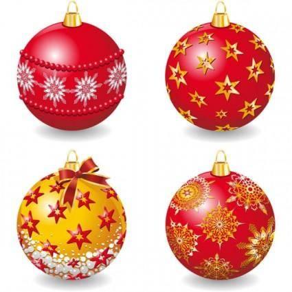 free vector Delicate christmas ball vector