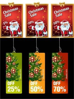 Christmas cards with the tag vector