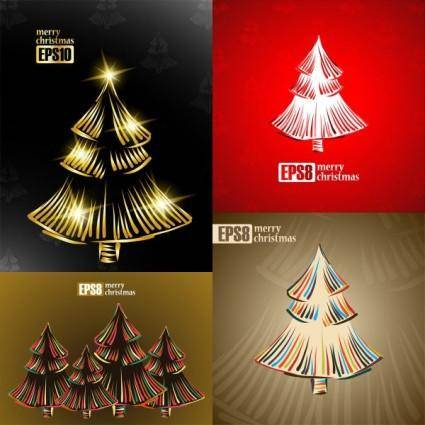 Exquisite christmas tree 2 vector