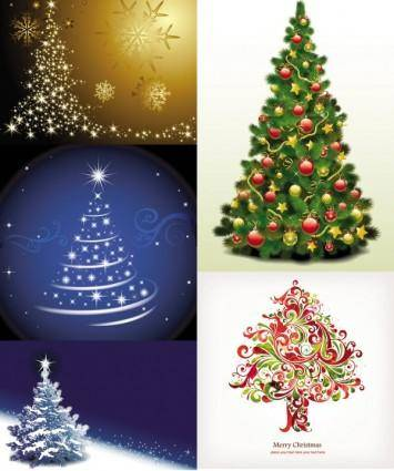 Exquisite christmas tree 3 vector