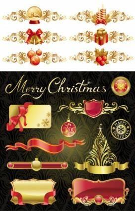 free vector Christmas design elements 01 vector