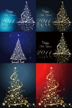 free vector Dream bright christmas tree vector