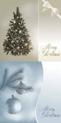 free vector Gorgeous christmas tree and the ball vector