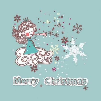 free vector Christmas decoration stickers 02 vector